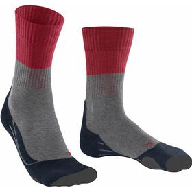 Falke TK2 Trekking Socks Men lightgrey/red